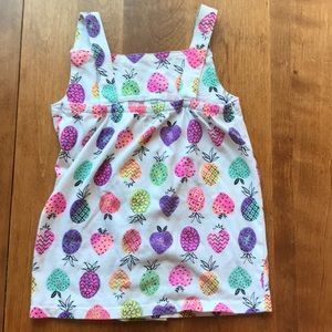 Multicolor pineapple tank top with bow
